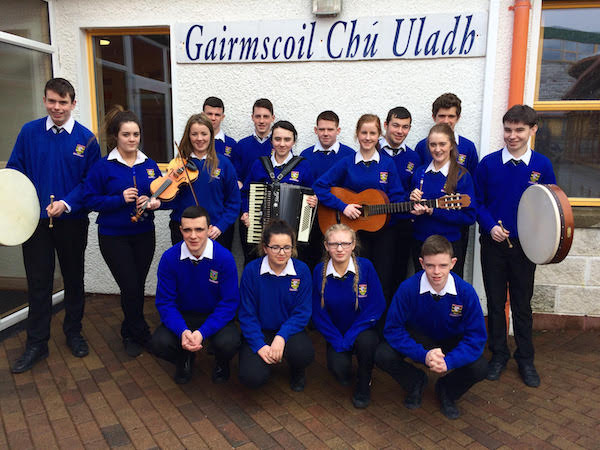 The students whose song was chosen for the GAA's 1916 commemoration album.