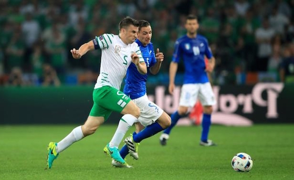 Seamus Coleman leads by example against the Italians.