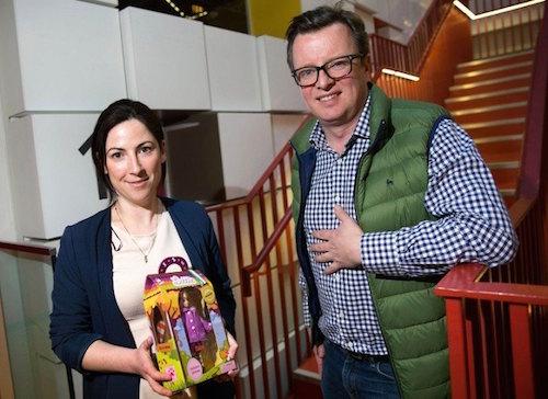 Images of Ian Harkin (Lottie Dolls MD) and Katrina mcBride (Digital Marketing Lottie Dolls) both Ballybofey, at Google HQ (attached).