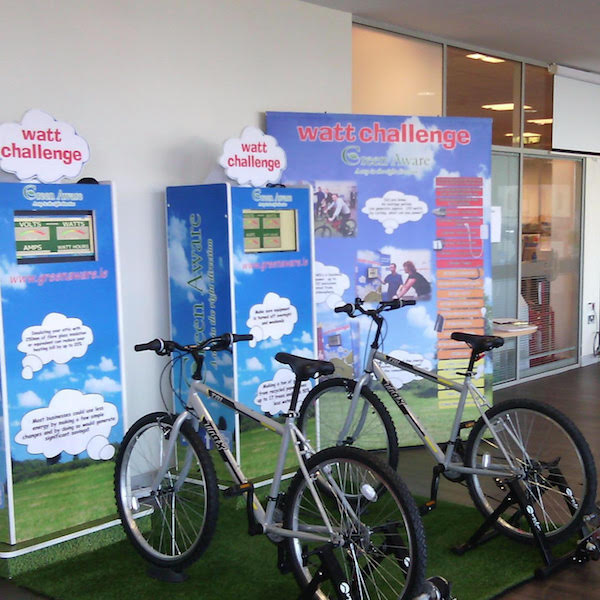 They're all set for the Bike Watt Challenge at County House