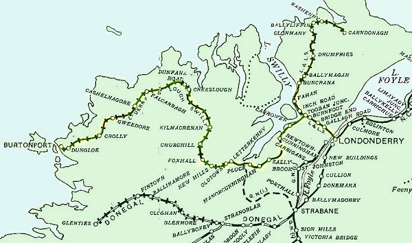 The Swilly railway line in 1906