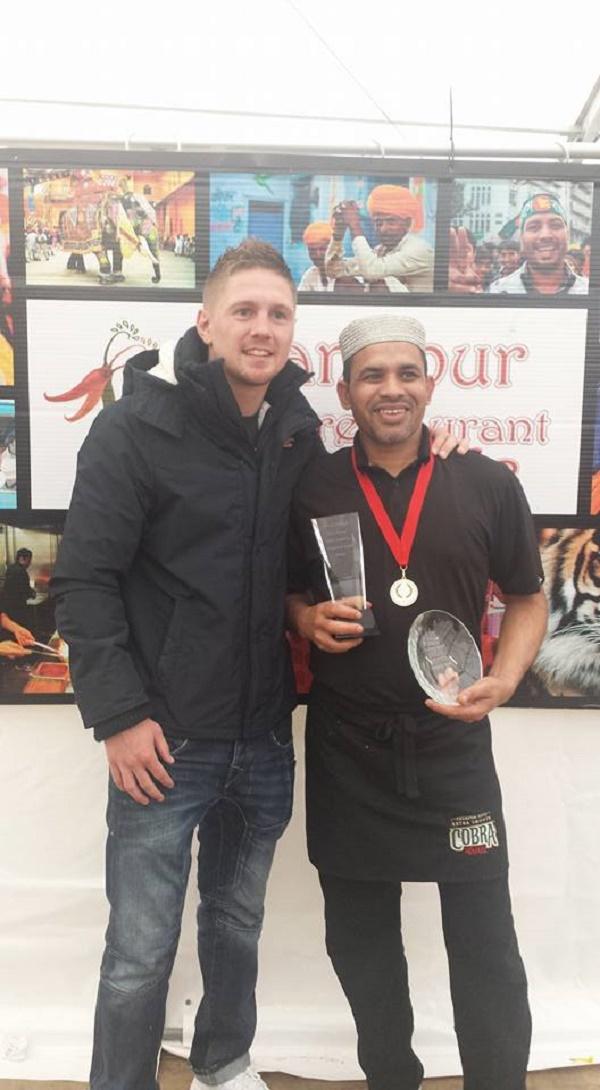 Champion boxer Jason Quigley with Rana