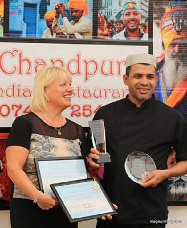 Rana and Susan from Chandpur winning a gold medal at 2015's ceremony