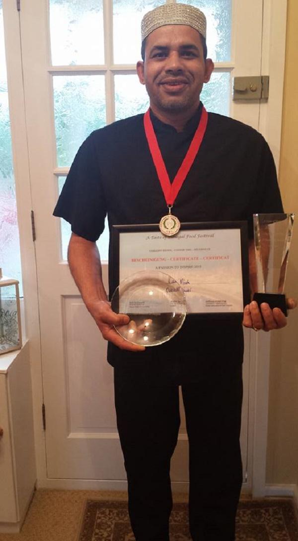 Rana with his awards
