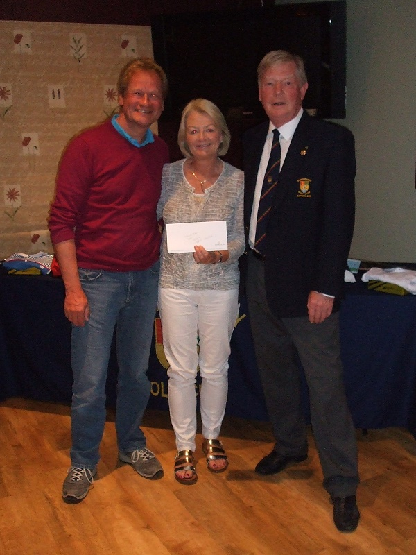 Peter and Mary Wilson with Captain Denis Martin