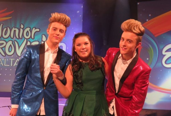 Amy Meehan and Jedward - TG4 Junior Eurovision Song Contest