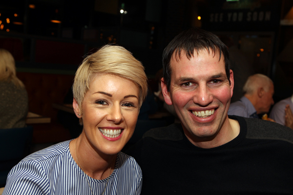 Joan and Kevin Gallinagh at the open on Backstage in Letterkenny.