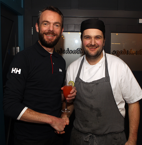 John O Donnell from E and B Foods,  with head chef Mark Greer at the opening of backstage in Letterkenny.