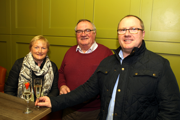 Patsy, Philly and Liam Mc Fadden from Cresslough at the opening of Backstage in Letterkenny.
