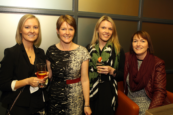 Sisters , Maura McFadden, Pauline Doherty, Emma Mc Fadden and Fionnula Quinn at the opening of Backstage in Letterkenny. Photos Brian McDaid