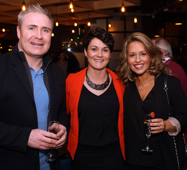 John and Karen Gildea with Connie Murray Lynch at the opening of Backstage in Letterkenny.