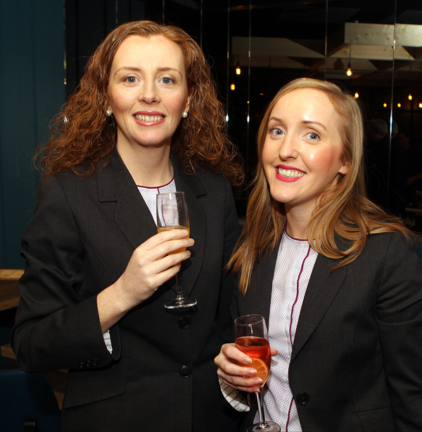 Sally Anne Mulholland and Martina Rodgers at the opening of Backstage in Letterkenny.