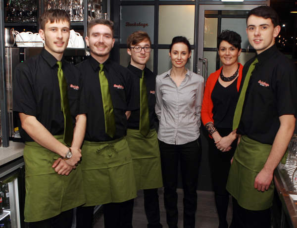 Some of the bar Staff at Back Satge , included Bailey Robinson, Jimmy McAllen, Luke Mc Laughlin , Mary Mc Bride (Manager) Connie Murray Lynch and Patrick Mc Bride. Photos Brian McDaid