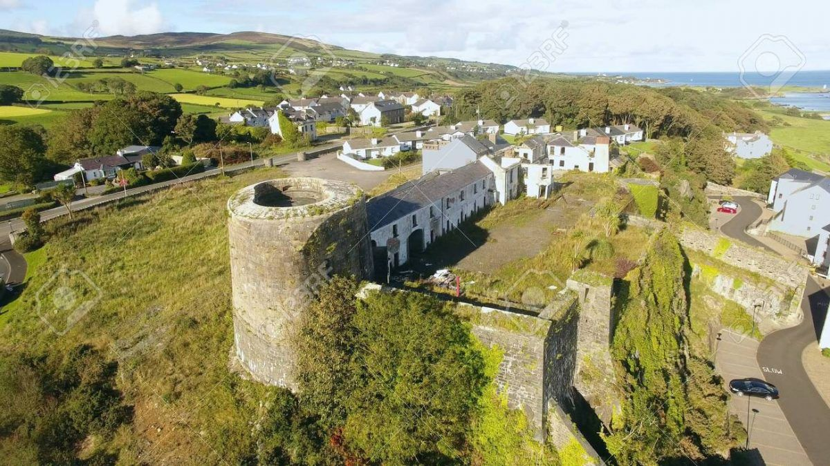 Aerial view of Greencastle Fort