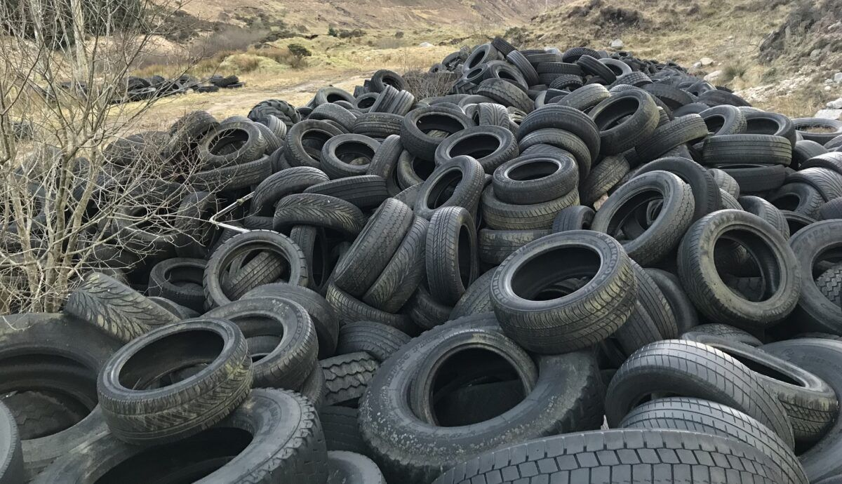illegal tyre dump Donegal