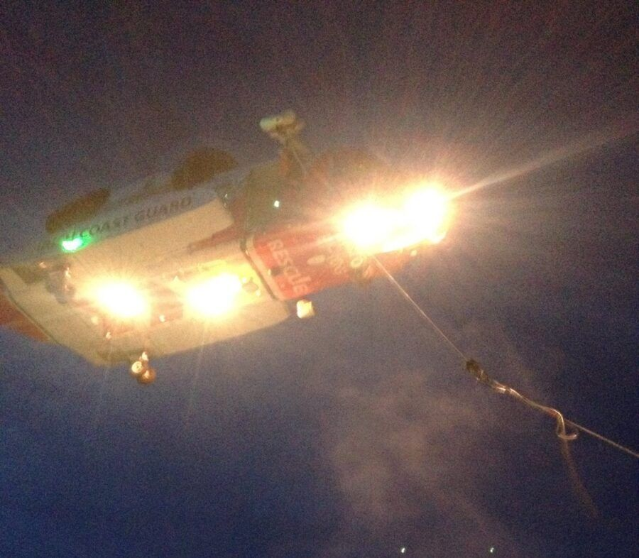 R118 helicopter at night