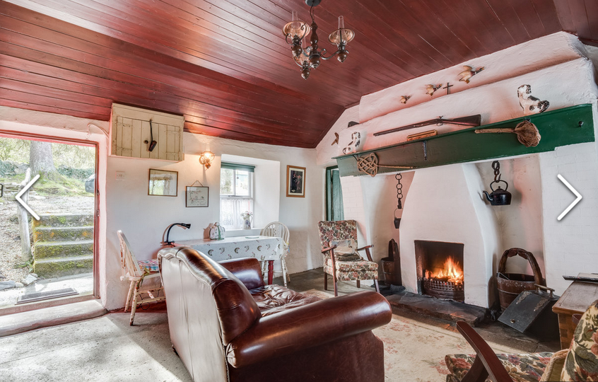 Inside a traditional Irish cottage